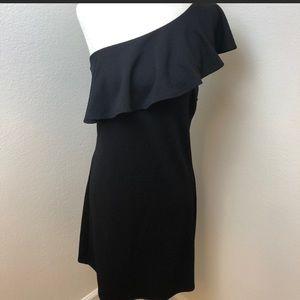 Xhilaration one shoulder black dress